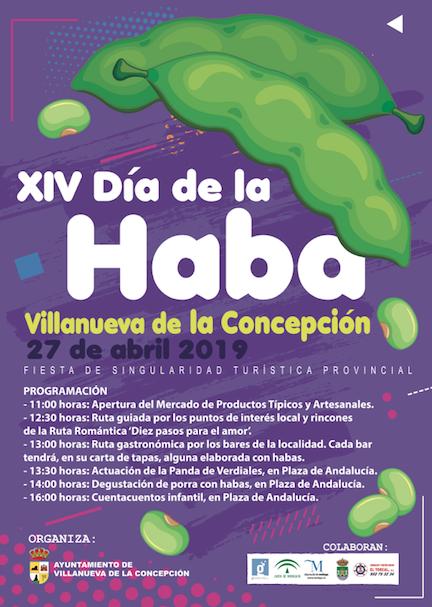 Cartel XIV Día de la Haba en Villanueva de la Concepción